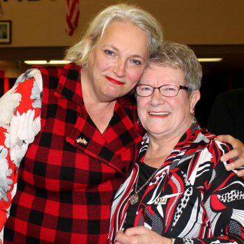 Cast member Astrid Van Wieren & Gander local Beulah Davis.