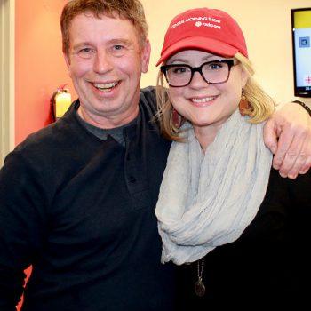 Gander local Brian Mosher and cast member Kendra Kassebaum.